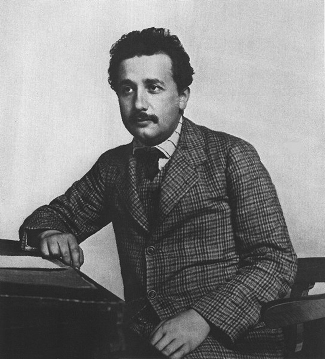 Photograph of Albert Einstein.