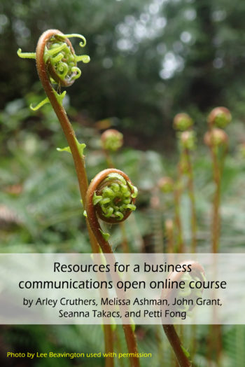 Cover image for Resources for a business communications open online course