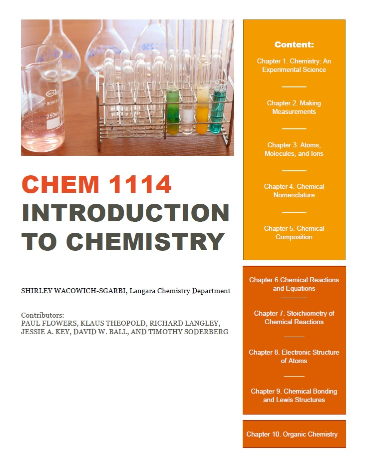 Cover image for CHEM 1114 - Introduction to Chemistry