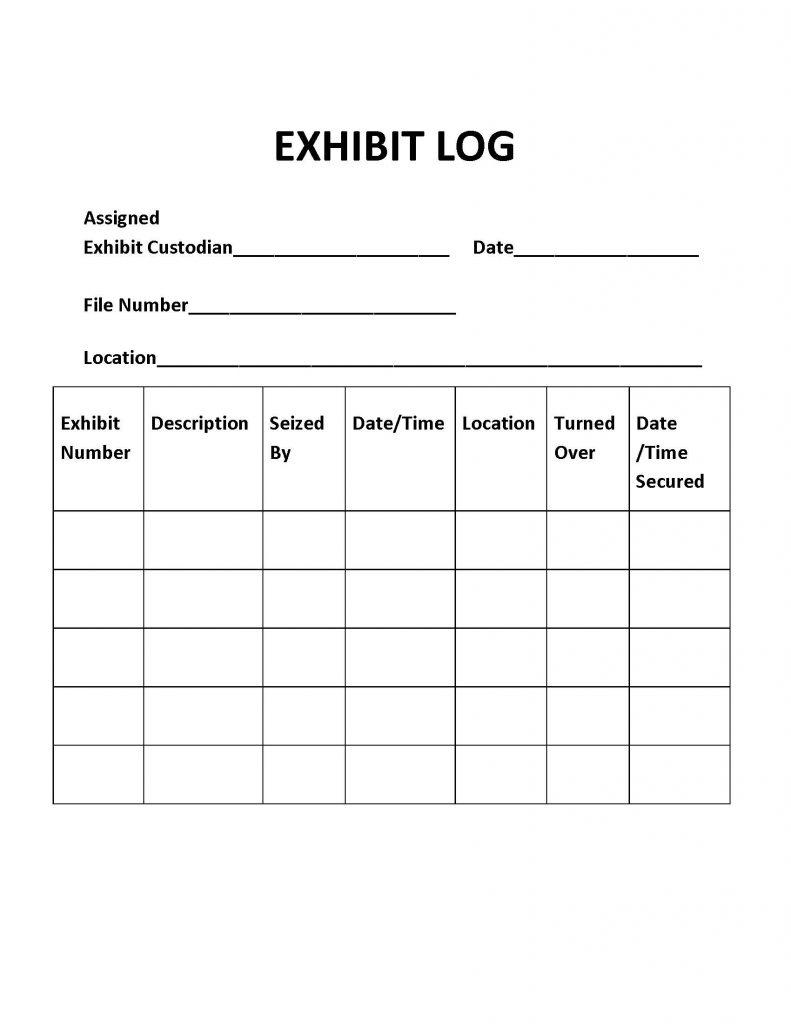 Exhibit Log