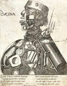 Old picture of half human and half machine done in 1569