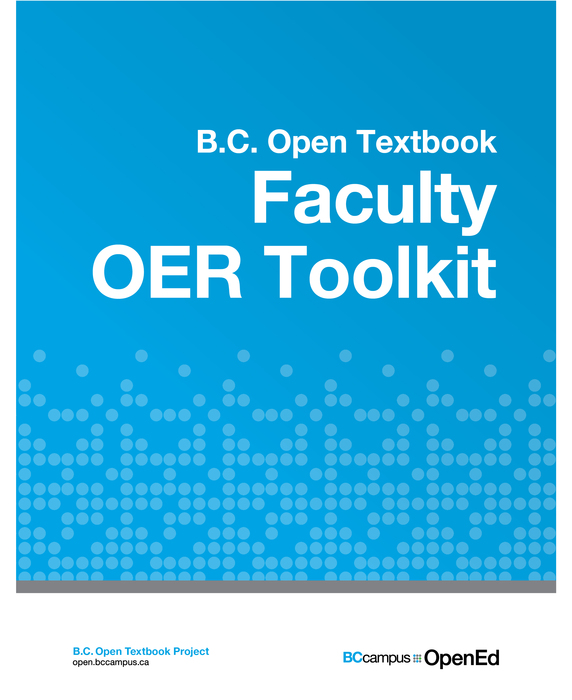 Faculty OER Toolkit book cover