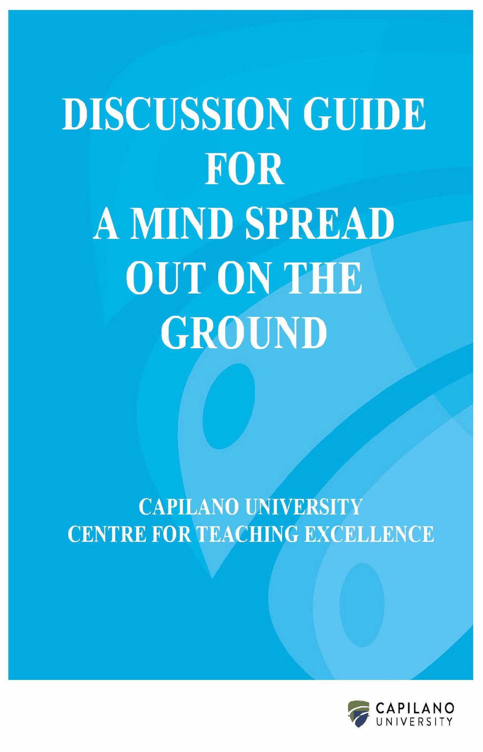 Cover image for Discussion Guide for A Mind Spread Out on the Ground