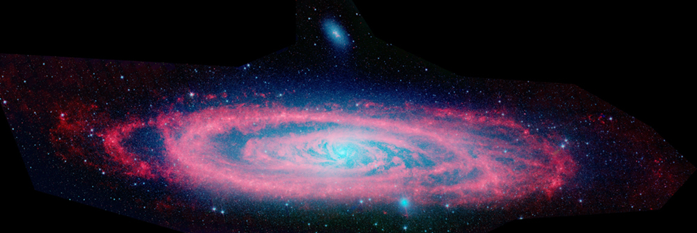 The spiral galaxy Andromeda is shown.