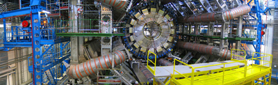 A close-up view of part of the world's largest particle accelerator.