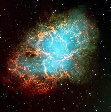 A supernova explosion.