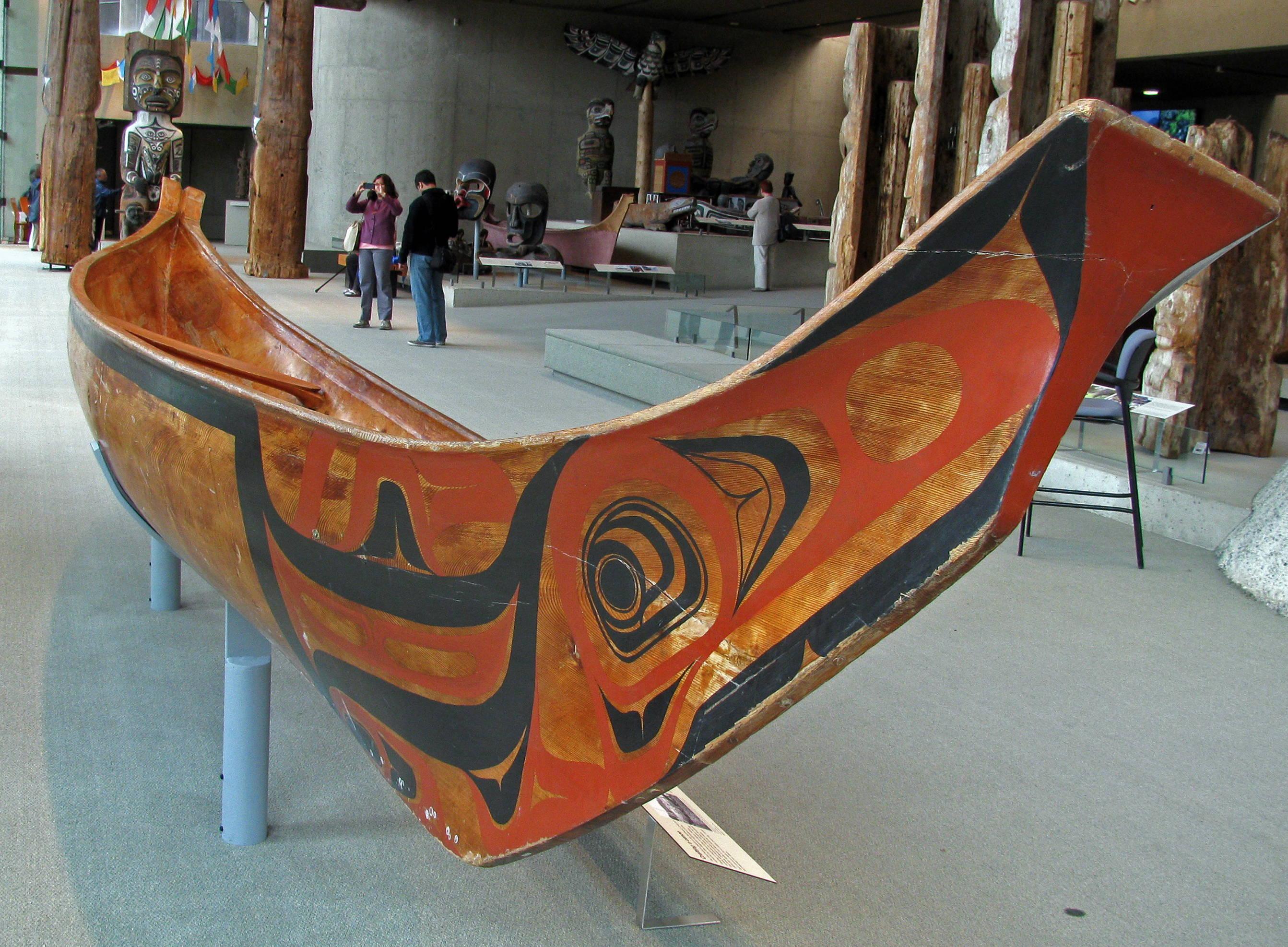 Full size northern style Tluu dugout canoe