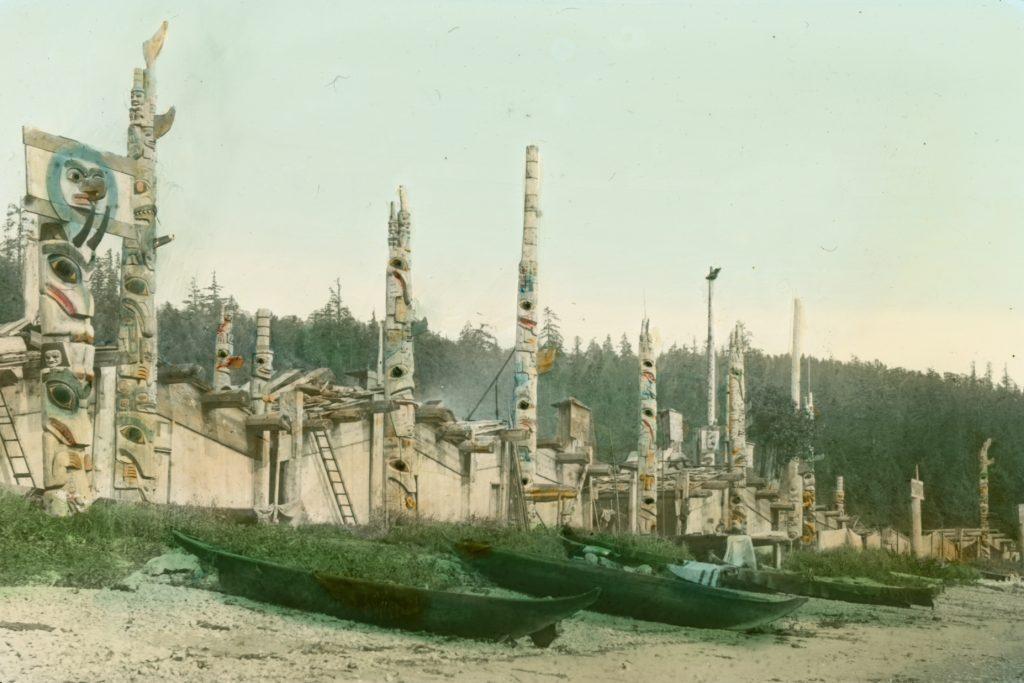 Skidegate native village, British Columbia