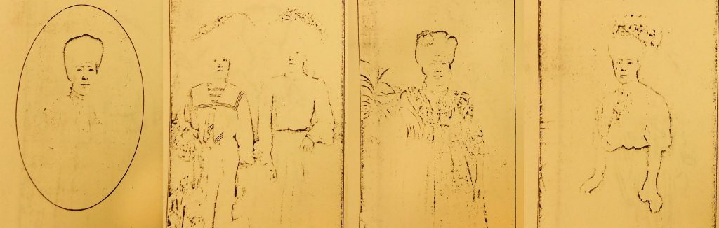 "Portraits of ""fallen women"" included in the book Kanada no Makutsu, published by Tairiku Nippo Sha in 1909."