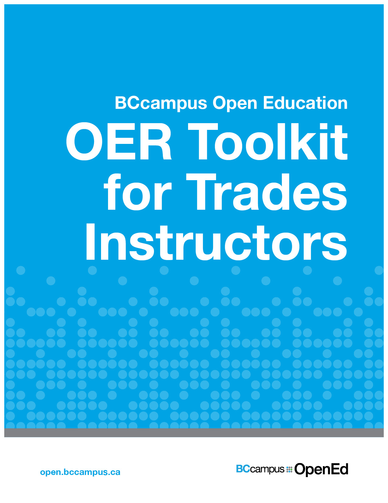 Cover image for OER Toolkit for Trades Instructors