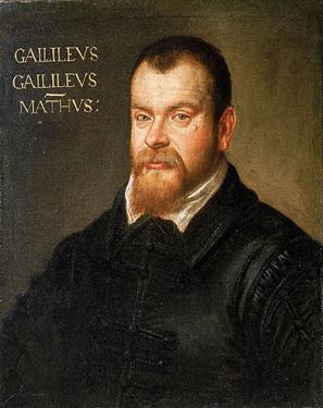 A painting of Galileo Galilei.