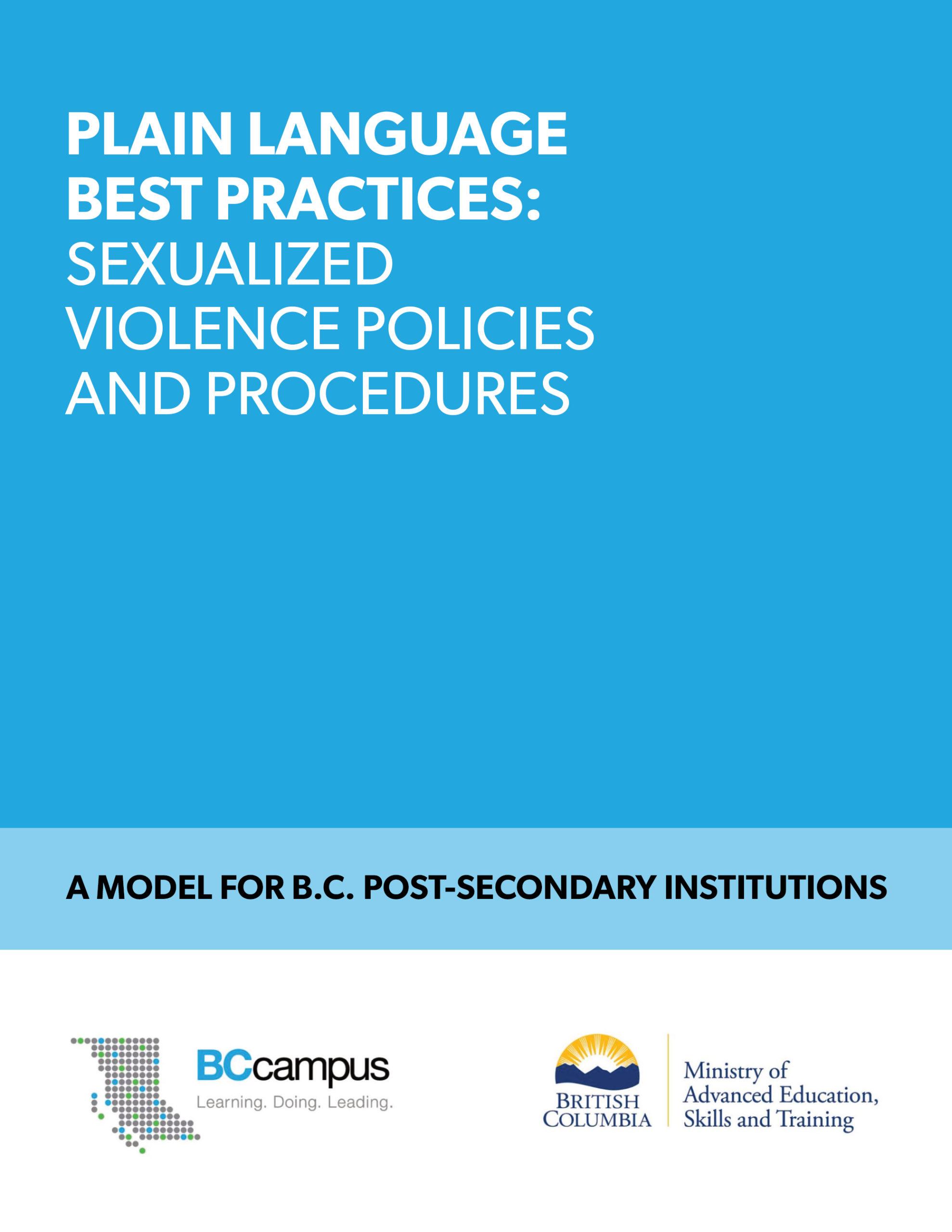 Cover image for Plain Language Best Practices