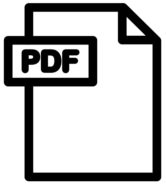 Simple icon for a PDF document link.