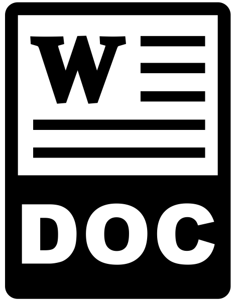 Simple icon for a Word document link.
