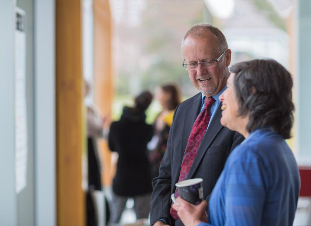 UBC Dean Simon Peacock and CWSEI Associate Director Sarah Gilbert