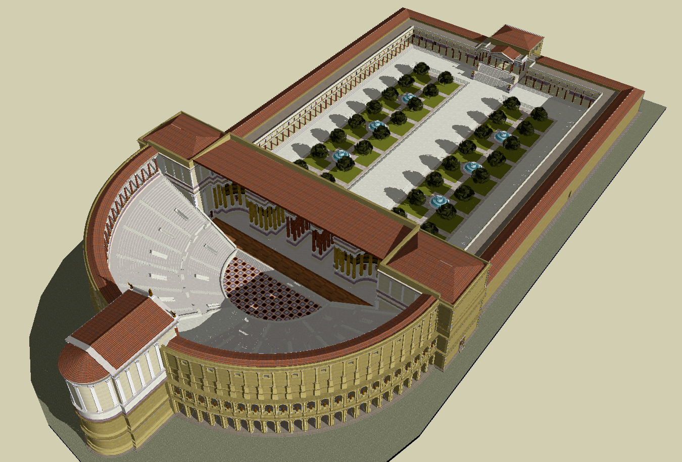 An image of the Theatre of Pompey