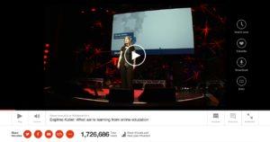 図5.1.1 TED Talkで話すDaphne Koller(2012年)(訳注:日本語の字幕があります)
