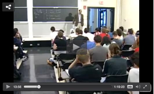 MIT OpenCourseware Lecture