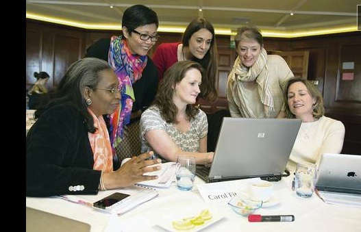 Bank of America's Vital Voices progam links women executives of small and medium sized enterprises Image: © Belfast Telegraph, 2014