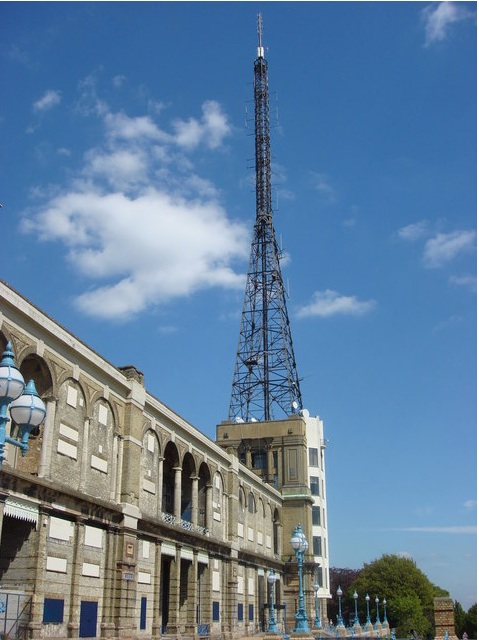 BBC television studio and radio transmitter, Alexandra Palace, London Image: © Copyright Oxyman and licensed for reuse under this Creative Commons Licence