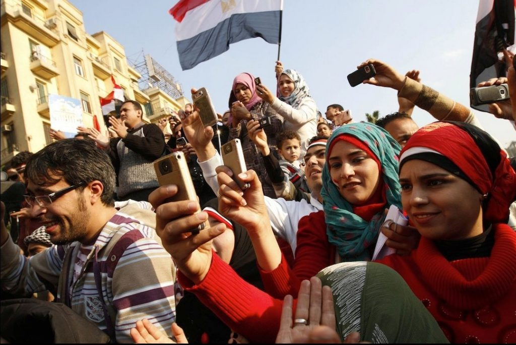 Figure 11.8.3 Using social media during the Arab Spring