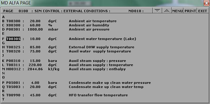Lake water temperature setting