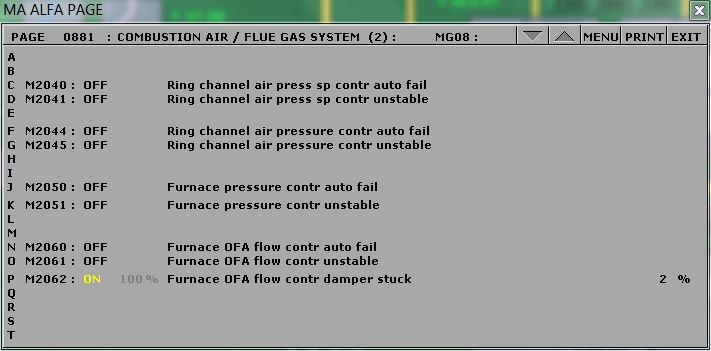 OFA controller failure.