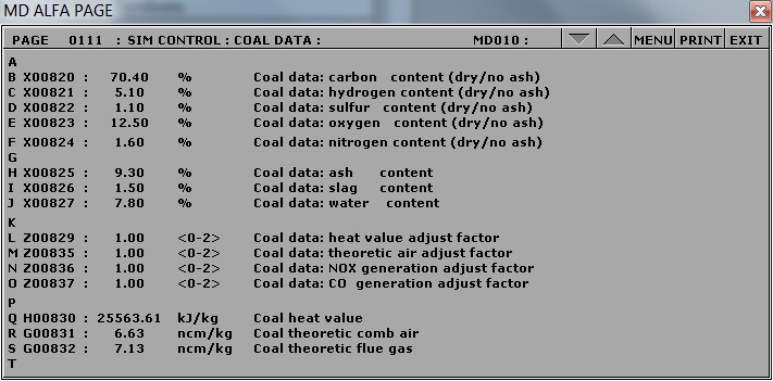 Chemical composition of coal