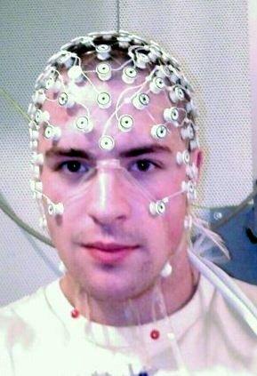 Man wearing an EEG Cap
