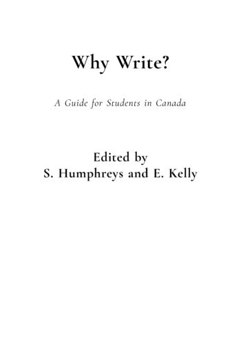Cover image for Why Write? A Guide for Students in Canada